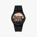 Superdry Urban Glitter Brand Analog Black Dial Women's Watch-SYL273B - 1
