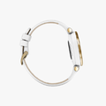 Lily, Light Gold, White, Leather - 4