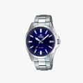 Casio Edifice Blue Dial - Silver - 1
