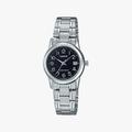 [ประกันร้าน] CASIO นาฬิกาข้อมือผู้หญิง รุ่น LTP-V002D-1B Standard Black Dial Silver - 1