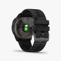 Fenix 6X - Pro Solar Titanium Carbon Gray DLC with Black Band (Solar) - 4
