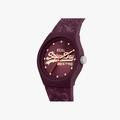 Purple Superdry Urban Leaf watch SYL248V - 2