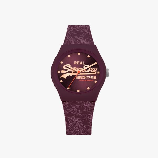 Purple Superdry Urban Leaf watch SYL248V