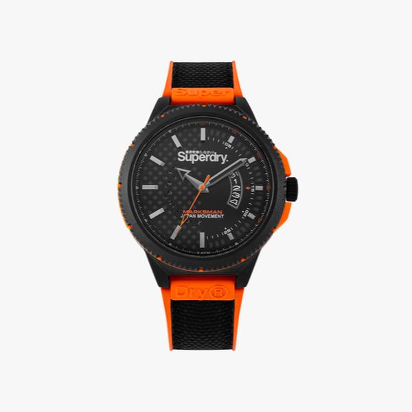 Black Superdry Marksman SYG245BO watch