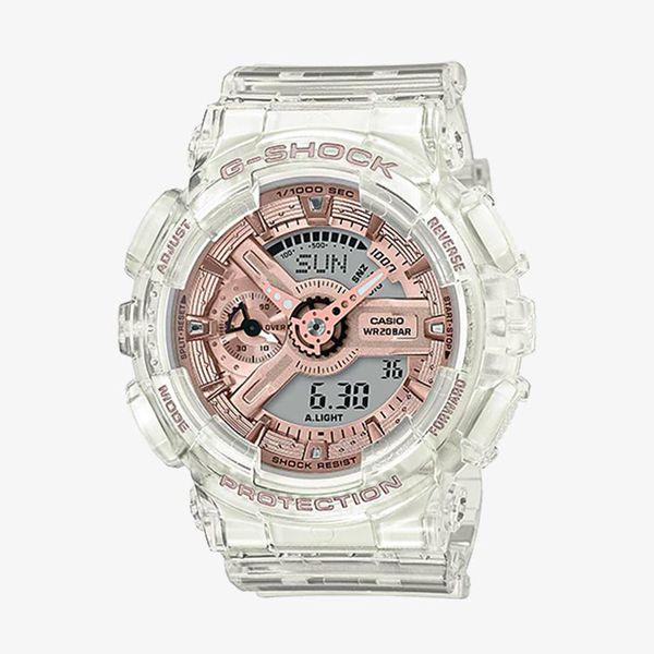 G-Shock S series Rose Gold Dial - White