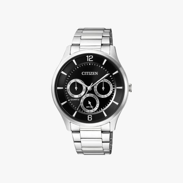 [ประกันร้าน] CITIZEN นาฬิกาข้อมือผู้ชาย รุ่น AG8351-86E AQ Mid Men's Quartz Black Dial Silver