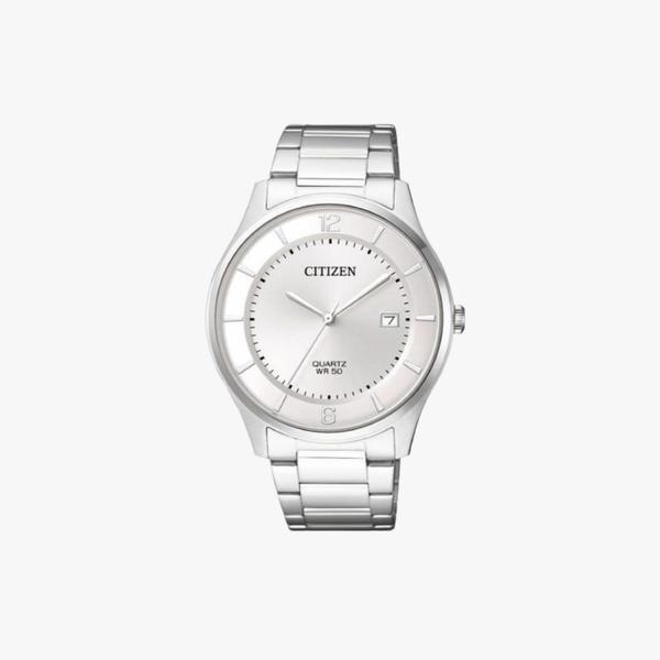 [ประกันร้าน] CITIZEN นาฬิกาข้อมือผู้ชาย รุ่น BD0041-89A Classic AQ Mid White Dial Silver