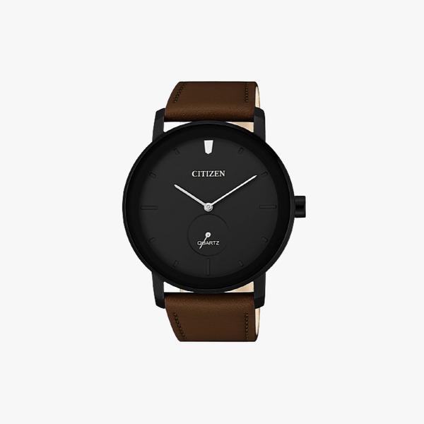 [ประกันร้าน] CITIZEN นาฬิกาข้อมือผู้ชาย รุ่น BE9185-08E AQ Mid Men's Quartz Black Dial Brown