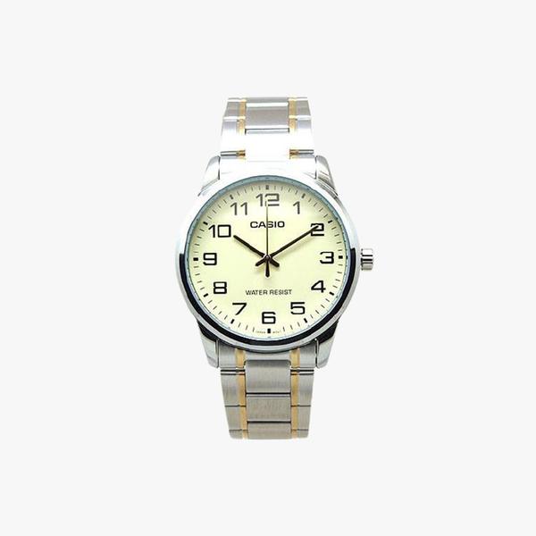 [ประกันร้าน] CASIO นาฬิกาข้อมือผู้ชาย รุ่น MTP-V001SG-9B-S Enticer