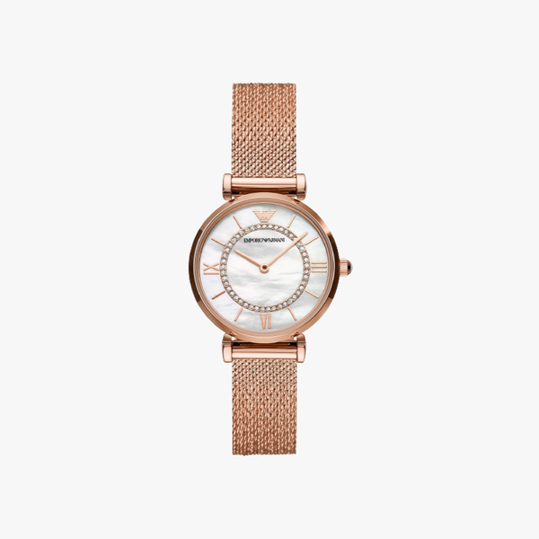 Gianni T-Bar Morther of Pearl Dial - Rose Gold
