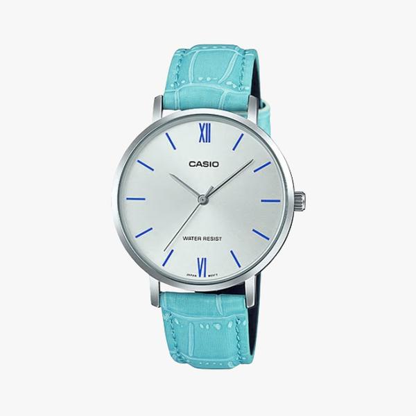 [ประกันร้าน] CASIO นาฬิกาข้อมือผู้หญิง รุ่น LTP-VT01L-7B3UDF-S Standard Silver Dial Blue