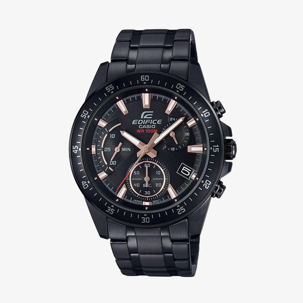 Edifice Chronograph Black Dial - Black