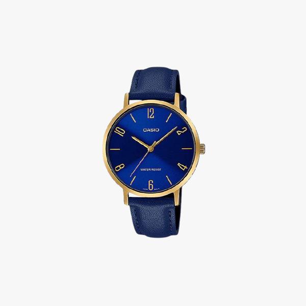 [ประกันร้าน] CASIO นาฬิกาข้อมือผู้หญิง รุ่น LTP-VT01GL-2BUDF-S Standard Blue