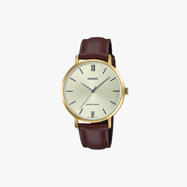 [ประกันร้าน] CASIO นาฬิกาข้อมือผู้หญิง รุ่น LTP-VT01GL-9BUDF-S Standard Brown