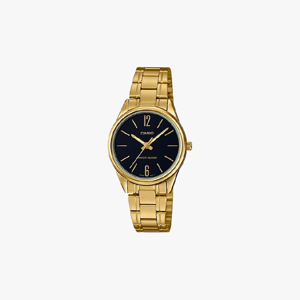 [ประกันร้าน] CASIO นาฬิกาข้อมือผู้หญิง รุ่น LTP-V005G-1BUDF-S Standard Gold