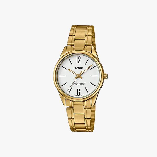 [ประกันร้าน] CASIO นาฬิกาข้อมือผู้หญิง รุ่น LTP-V005G-7BUDF-S Standard Gold