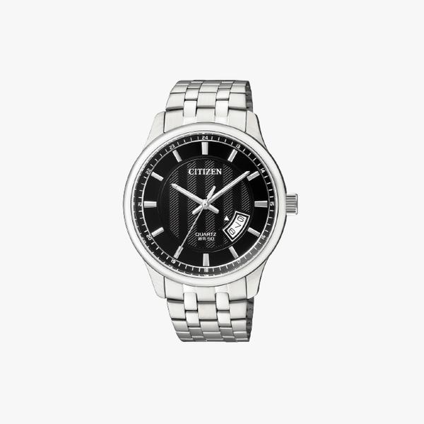 [ประกันร้าน] CITIZEN นาฬิกาข้อมือผู้ชาย รุ่น BI1050-81E AQ Mid Men's Quartz Black Dial Silver