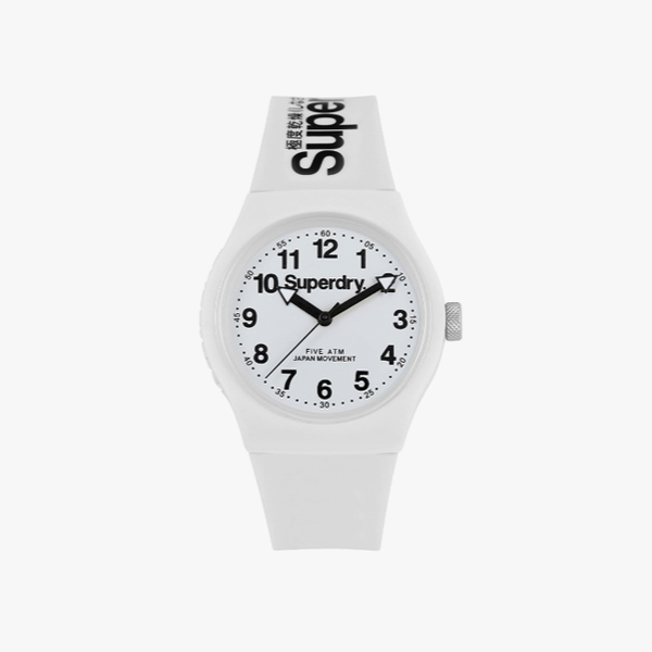 Superdry Unisex-Adult Analogue Quartz Watch with Silicone Strap SYG164WW