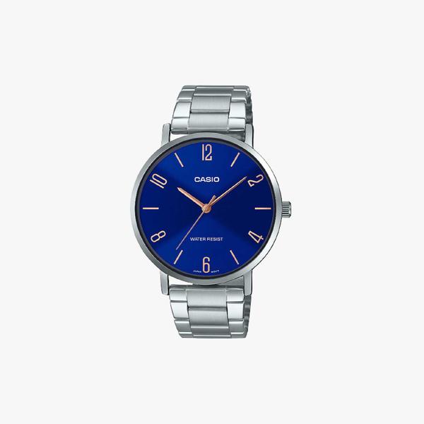 [ประกันร้าน] CASIO นาฬิกาข้อมือผู้ชาย รุ่น MTP-VT01D-2B2UDF-S Standard Silver