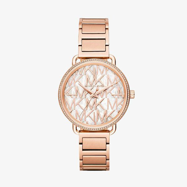 Portia Layered Silver Dial - Rose Gold