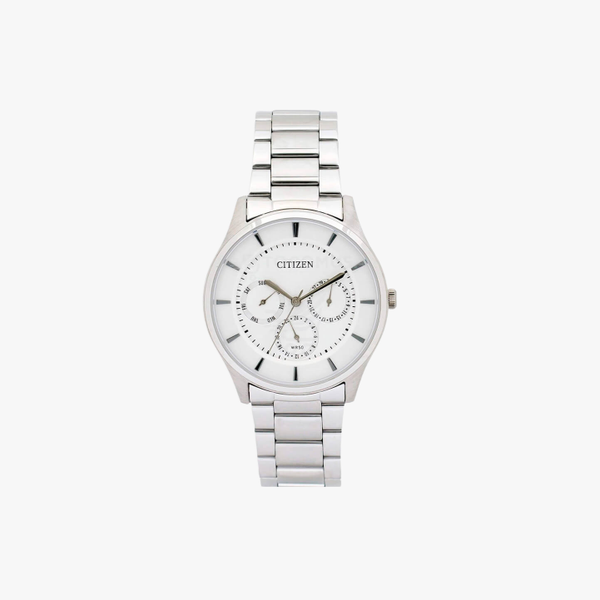 [ประกันร้าน] CITIZEN นาฬิกาข้อมือผู้ชาย รุ่น AG8351-86A AQ Mid Men's Quartz White Dial Silver