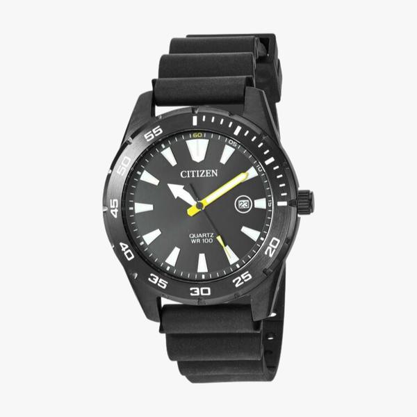 [ประกันร้าน] CITIZEN นาฬิกาข้อมือผู้ชาย รุ่น BI1045-13E AQ Mid Black Dial Black