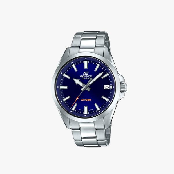 Casio Edifice Blue Dial - Silver