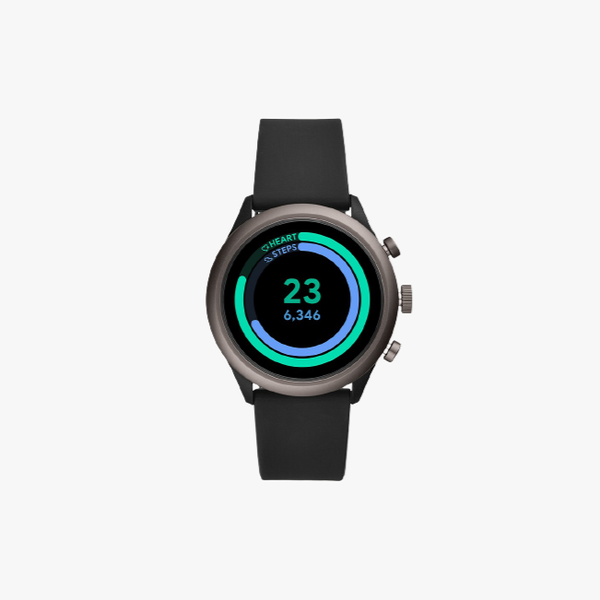 Fossil Sport Metal and Silicone Touchscreen Smartwatch - Black