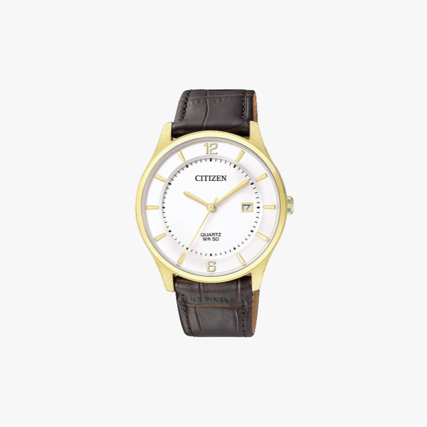 [ประกันร้าน] CITIZEN นาฬิกาข้อมือผู้ชาย รุ่น BD0043-08B Leather Men's Watch Quartz