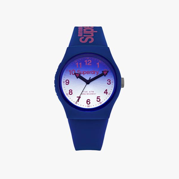 Blue Superdry urban watch