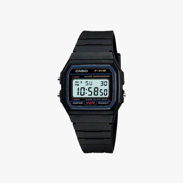 [ประกันร้าน] CASIO นาฬิกาข้อมือผู้ชาย รุ่น F-91W-1SDG-S Vintage Black