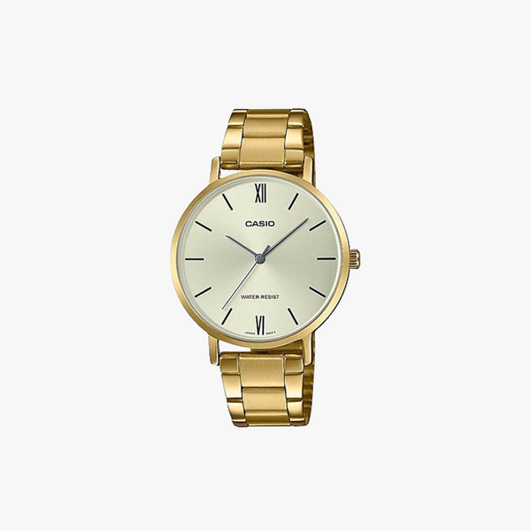 [ประกันร้าน] CASIO นาฬิกาข้อมือผู้หญิง รุ่น LTP-VT01G-9BUDF-S Standard Gold