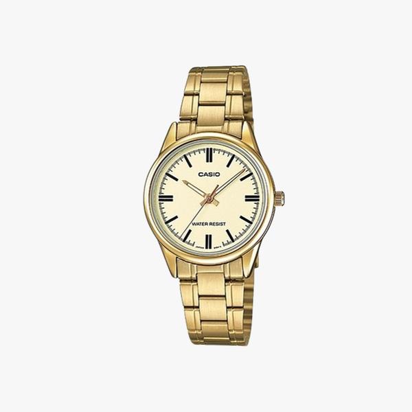 [ประกันร้าน] CASIO นาฬิกาข้อมือผู้หญิง รุ่น LTP-V005G-9AUDF-S Standard Gold