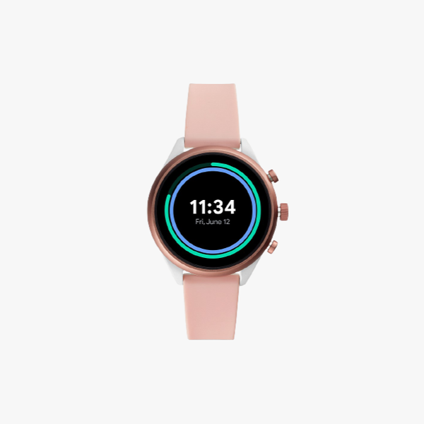 Fossil Sport Metal and Silicone Touchscreen Smartwatch - Pink