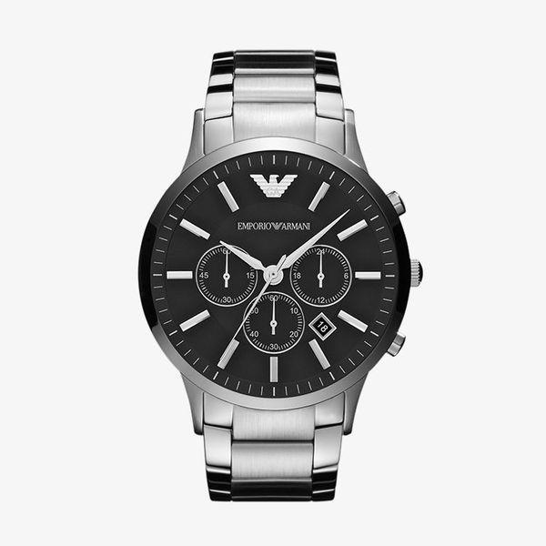 Sportivo Chronograph Black Dial Steel - Silver