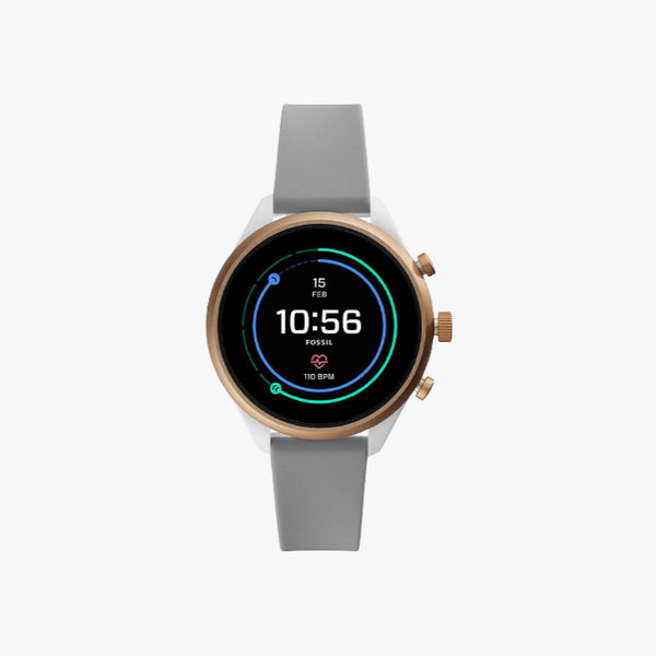 Fossil Sport Metal and Silicone Touchscreen Smartwatch - Grey