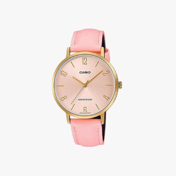 [ประกันร้าน] CASIO นาฬิกาข้อมือผู้หญิง รุ่น LTP-VT01GL-4BUDF-S Standard Pink
