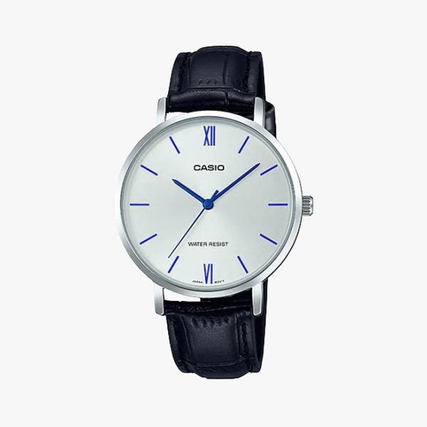 [ประกันร้าน] CASIO นาฬิกาข้อมือผู้หญิง รุ่น LTP-VT01L-7B1UDF-S Standard Silver Dial Black