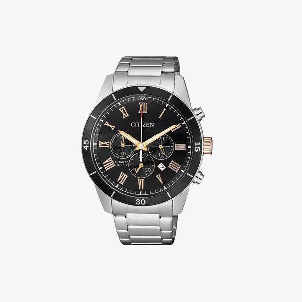 [ประกันร้าน] CITIZEN นาฬิกาข้อมือผู้ชาย รุ่น AN8168-51H AQ Chronograph Men's Quartz Black Dial Silver