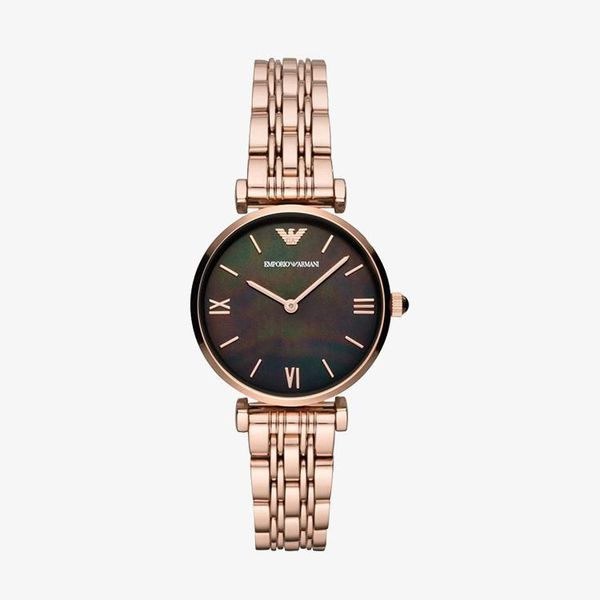 Authentic Black Mother of Pearl Dial - Rose Gold - AR11145