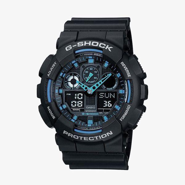 Casio G-Shock Blue Dial - Black