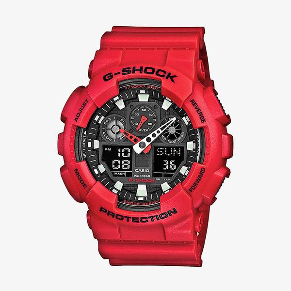 Casio G-Shock Black Dial - Red
