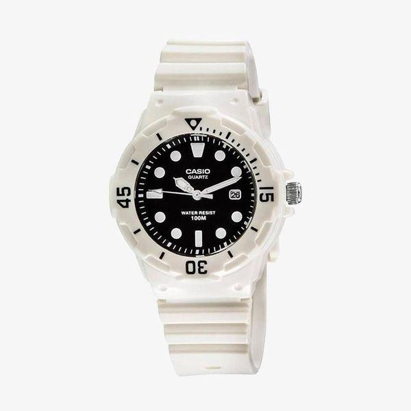 [ประกันร้าน] CASIO นาฬิกาข้อมือผู้หญิง รุ่น LRW-200H-1E Standard Black Dial White