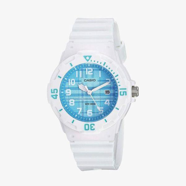 [ประกันร้าน] CASIO นาฬิกาข้อมือผู้หญิง รุ่น LRW-200H-2C Casio Standard Blue Dial White
