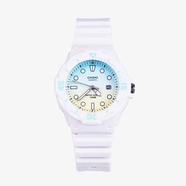 Casio Standard Blue, Cream Dial - White