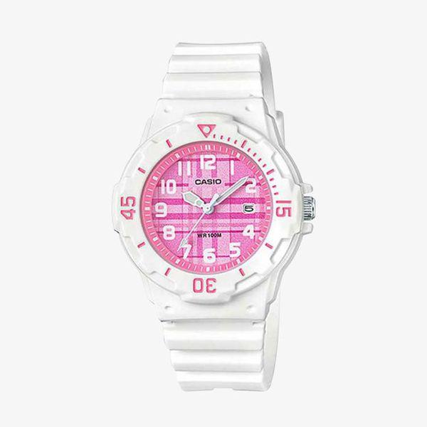 [ประกันร้าน] CASIO นาฬิกาข้อมือผู้หญิง รุ่น LRW-200H-4C Standard Pink Dial White