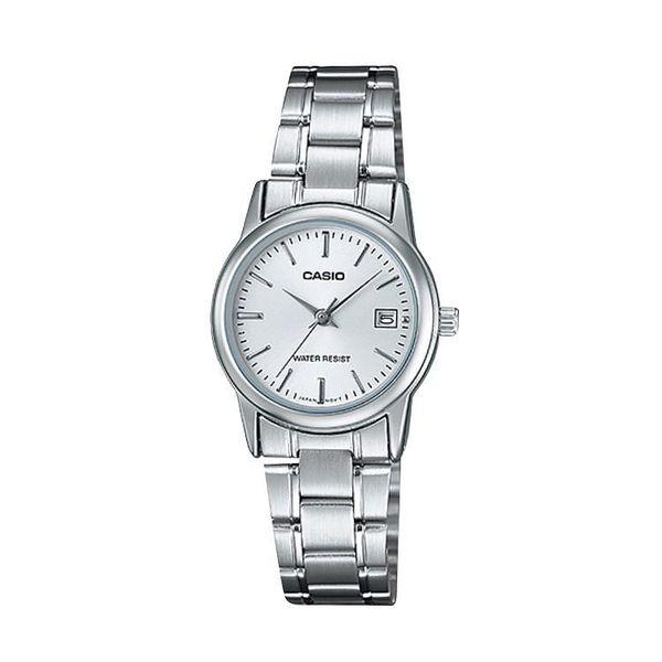 [ประกันร้าน] CASIO นาฬิกาข้อมือผู้หญิง รุ่น LTP-V002D-7A Casio Standard White Dial Silver