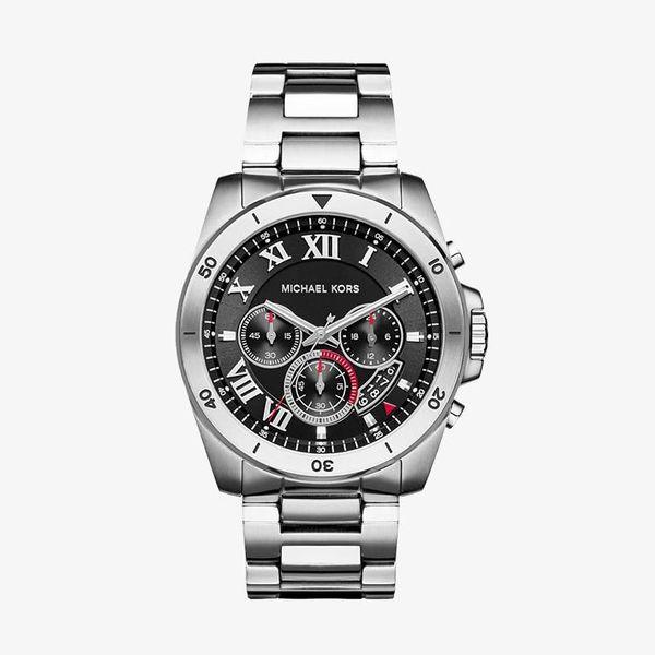 Brecken Chronograph Black Dial - Silver