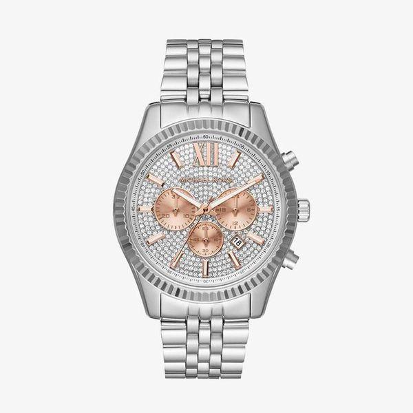 Lexington Crystal Pave Dial - Silver - MK8515