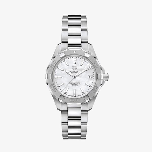 Aquaracer White Mother of Pearl Dial - Silver - WBD1311.BA0740